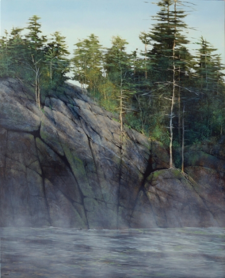 TM8698 Up at the Lake 30x24 oil on panel