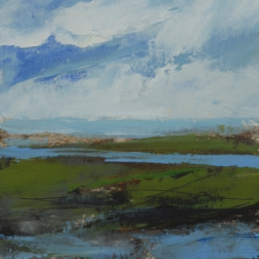 TM8714 Low Tide Study #2 6x6 oil on paper