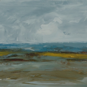 sold TM8715 Low Tide Study #1 6x6 oil on paper