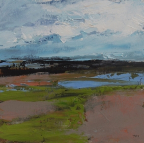 TM8717 At the Shore #1 6x6 oil on paper