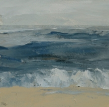 TM8724 Watching the Waves Come in #178 6x6 oil on paper