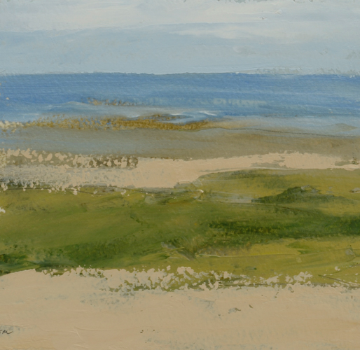TM8725 Watching the Waves Come In #179 6x6 oil on paper