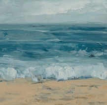 TM8726 Watching the Waves Come In #180 6x6 Oil on paper