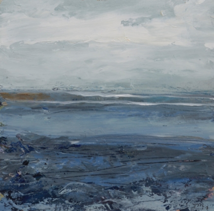 TM8727 Watching the Waves Come In #181 6x6 oil on paper