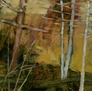 TM8746 Into the Woods #12 6x6 oil on paper