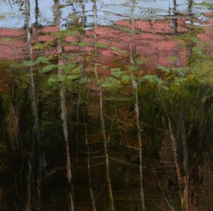 TM8750 Into the Woods #16 6x6 oil on paper