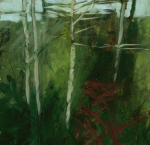 TM8755 Into the Woods #21 6x6 oil on paper