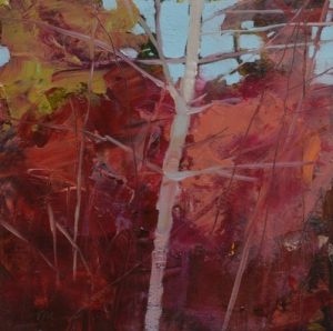 TM8756 Into the Woods #22 6x6 oil on paper