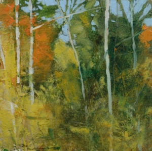 TM8757 Into the Woods #23 6x6 oil on paper