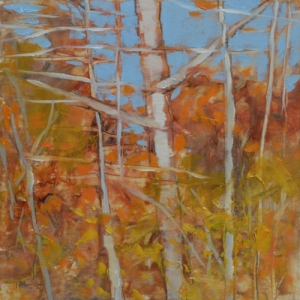 TM8758 Into the Woods #24 6x6 oil on paper