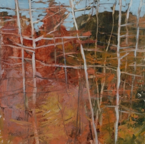 TM8759 Into the Woods #25 6x6 oil on paper