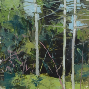 TM8760 Into the Woods #26 6x6 oil on paper