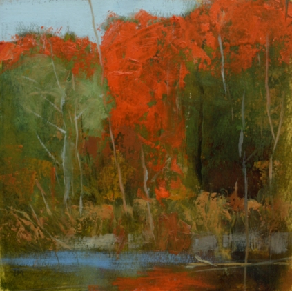 TM7874 Quiet Day at the Marsh 6x6 oil on paper