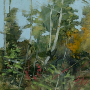 TM8772Into the Woods #31 6x6 oil on paper