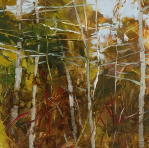 TM8782 Into the Woods #38 6x6 oil on paper