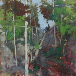 TM8806 Into the Woods #51 6x6 oil on paper