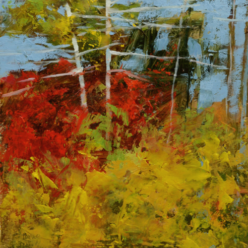 TM8808 An Excess of Autumn 6x6 oil on paper