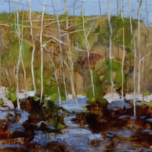 TM8811 Spring Thaw 6x6 oil on paper