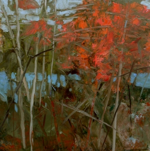 TM8812 Path by the Lake 6x6 oil on paper
