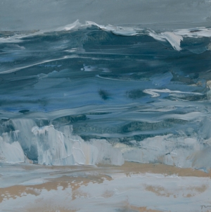 TM8826 Watching the Waves Roll In #186 6x6 oil on paper