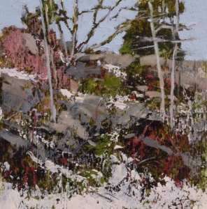 TM8829 Early Snow #1 oil on paper