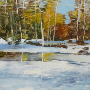 TM8831 Early Snow #3 6x6 oil on paper