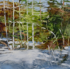 TM8832 Early Snow #4 6x6 oil on paper