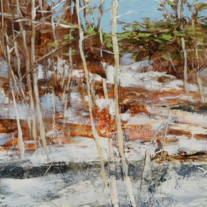 TM8833 Early Snow #5 6x6 oil on paper