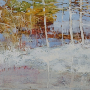 TM8834 Early Snow #6 6x6 oil on paper