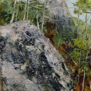 TM8838 Afternoon at Purgatory Chasm 6x6 oil onpaper