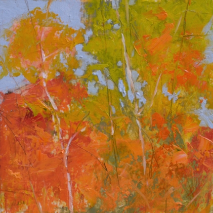 TM8853 October Fireworks 6x6 oil on paper