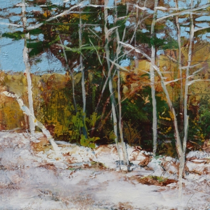 TM8851 Roadside Snow 6x6 oil on paper