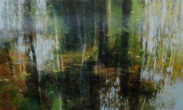 TM8906 Ode to a Woodland Pond 36x60 oil on panel