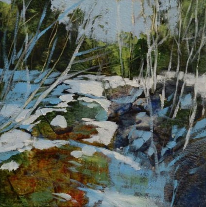 TM8910 Frozen Creek #2 6x6 oil on paper