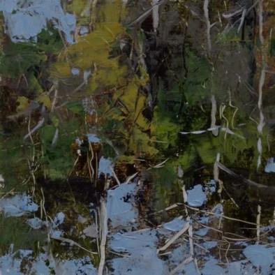 TM8915 The World Flips Upside Down 7x7 oil on paper