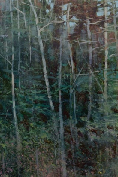 TM8908 Ode to a Quiet Rain - detail from left side looking into the woods