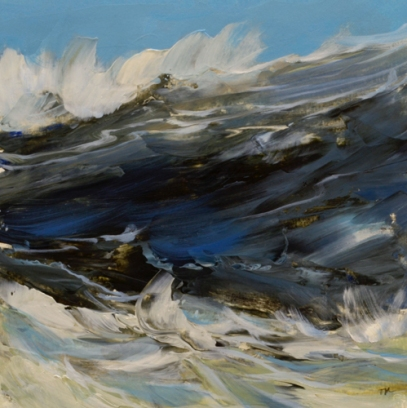 TM8929 Winter Waves #1 7x7 oil on paper