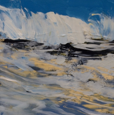 TM8932 Winter Waves #4 6x6 oil on paper