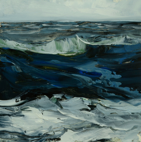 TM8935 WInter Waves #6 7x7 oil on paper