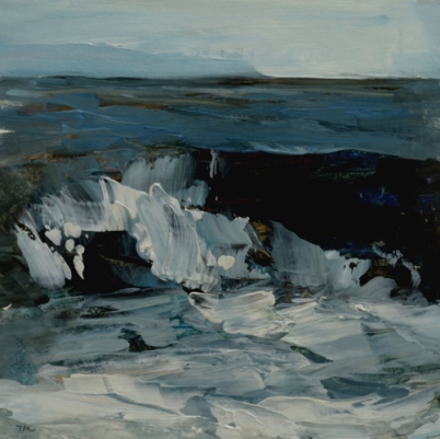 TM8936 Winter Waves #7 7x7 oil on paper
