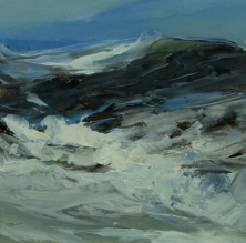 TM8937 Winter Waves #8 7x7 oil on paper