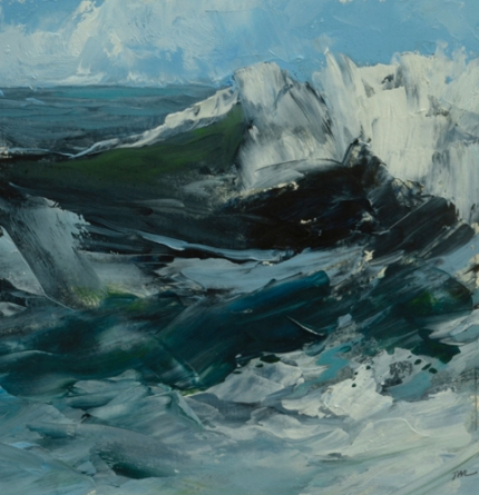 TM8934 WInter Wavs #5 7x7 oil on paper