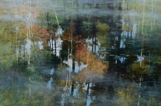 TM8958 Wetland Woods 36x54 oil on panel
