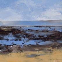 TM9019 Watching the Tide Go Out #1 7x7 oil on paper