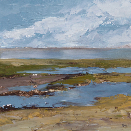 TM9021 Watching the Tide Go Out #2 7x7 oil on paper