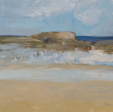 TM9022 Watching the Waves Roll In #212 7x7 oil on paper